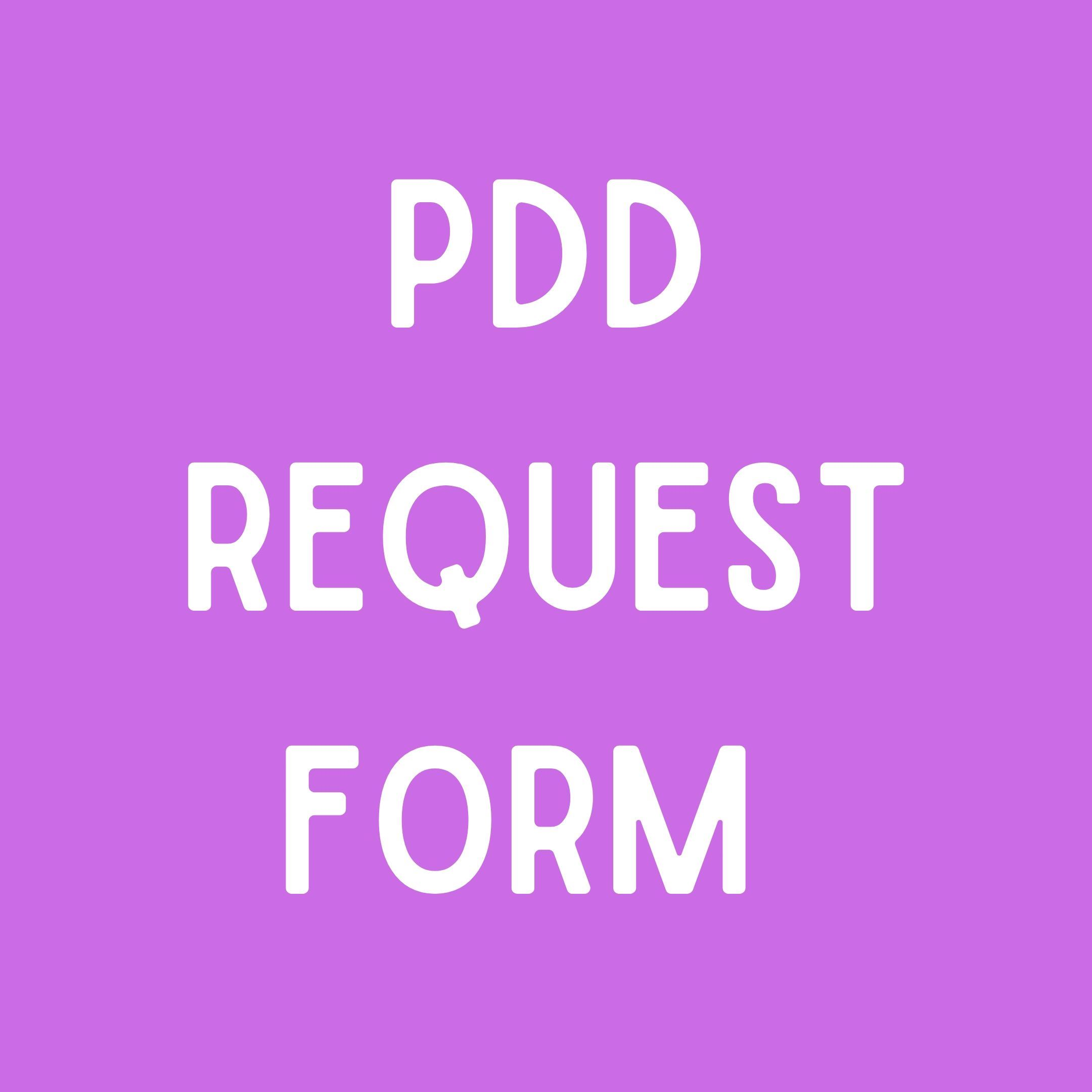 PDD Request Form