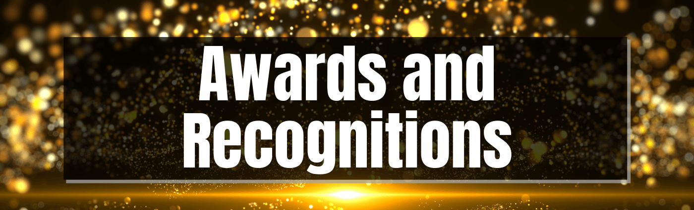 awards and recognitions Banner